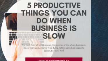 5 Productive Things You Can Do When Business Is Slow